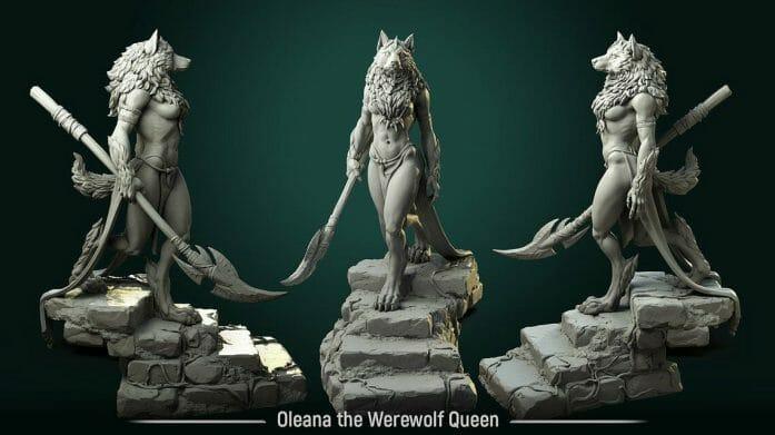 werewolf queen via White Werewolf Studios