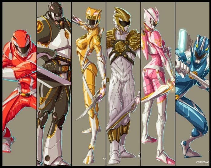 You, Mighty Morphin' Power Rangers by Fpeniche