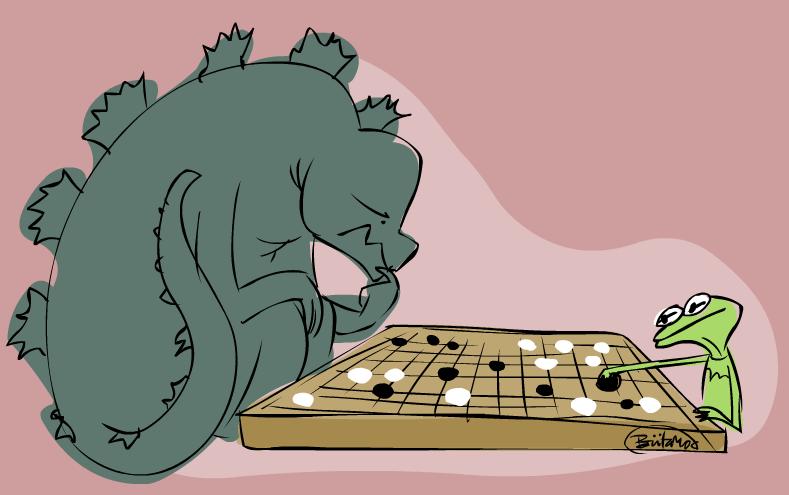 Godzilla-kermit-go by BrutaMod