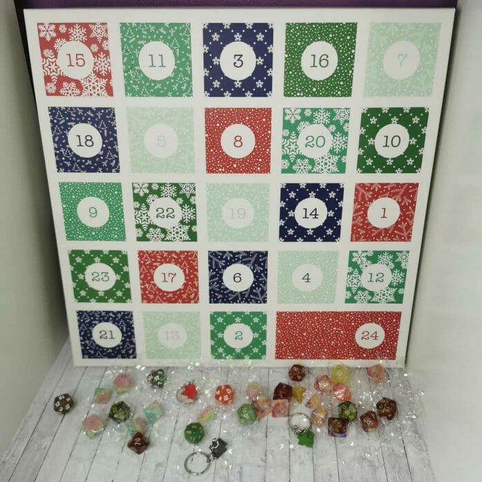 A dice Advent calendar