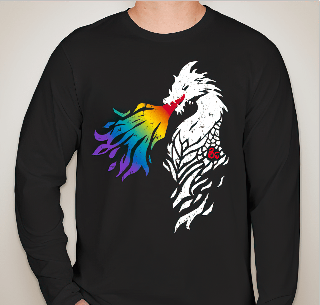 Limited edition D&D rainbow dragon