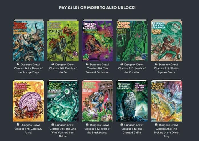 Dungeon Crawl Classics Humble Bundle