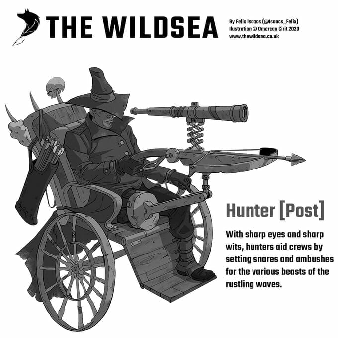 The Wildsea Hunter combat wheelchair