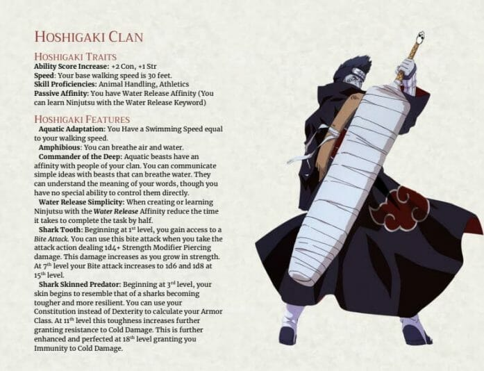 Naruto 5e: Hoshigaki Clan