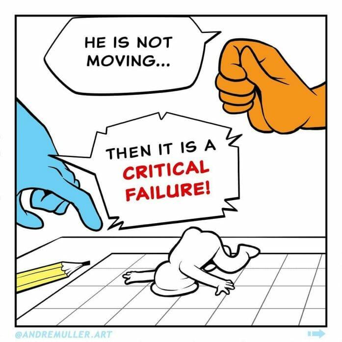 And that's a critical failure!