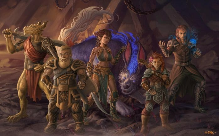 Dungeons and Dragons group commission Art by feintbellt