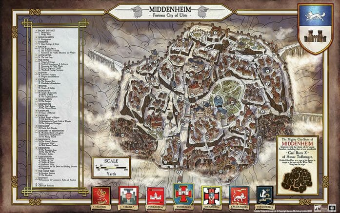 Warhammer FRP's Middenheim Map