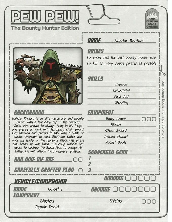 Pew Pew bounty hunter