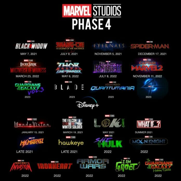 Marvel Studios and Disney+ superhero schedule
