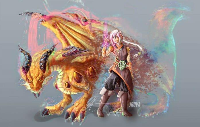 DnD sorcerer: Saja-ryong  by Jruva