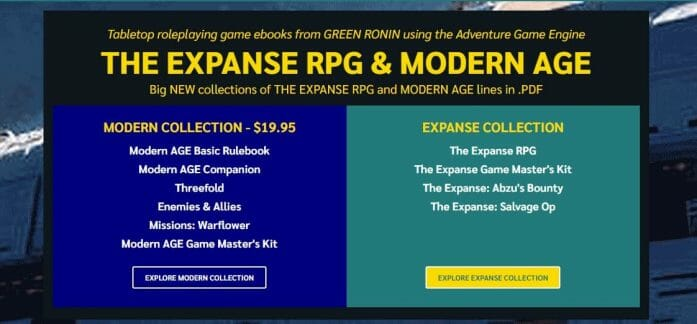 The Expanse RPG and Modern Age