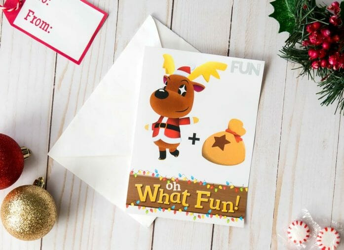 Download free Animal Crossing Christmas card