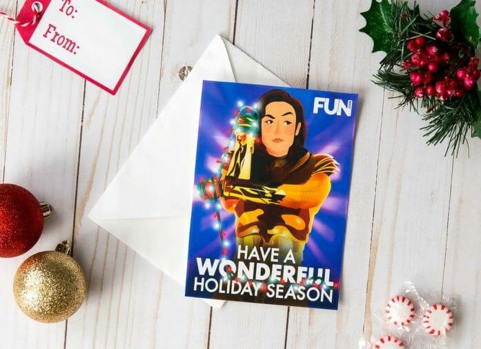 Download free Wonder Woman Christmas card
