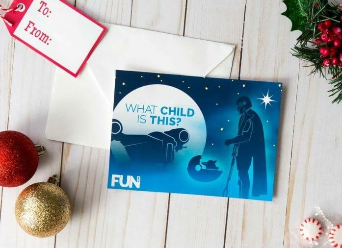 Download free Mandalorian Christmas card