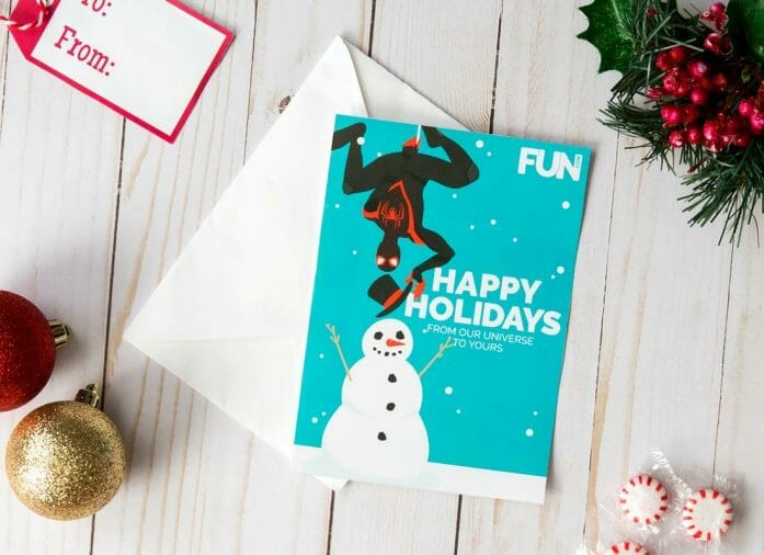 Download free Spider-man (Miles) Christmas card