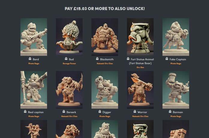 Highcraft Miniatures Humble Bundle deal