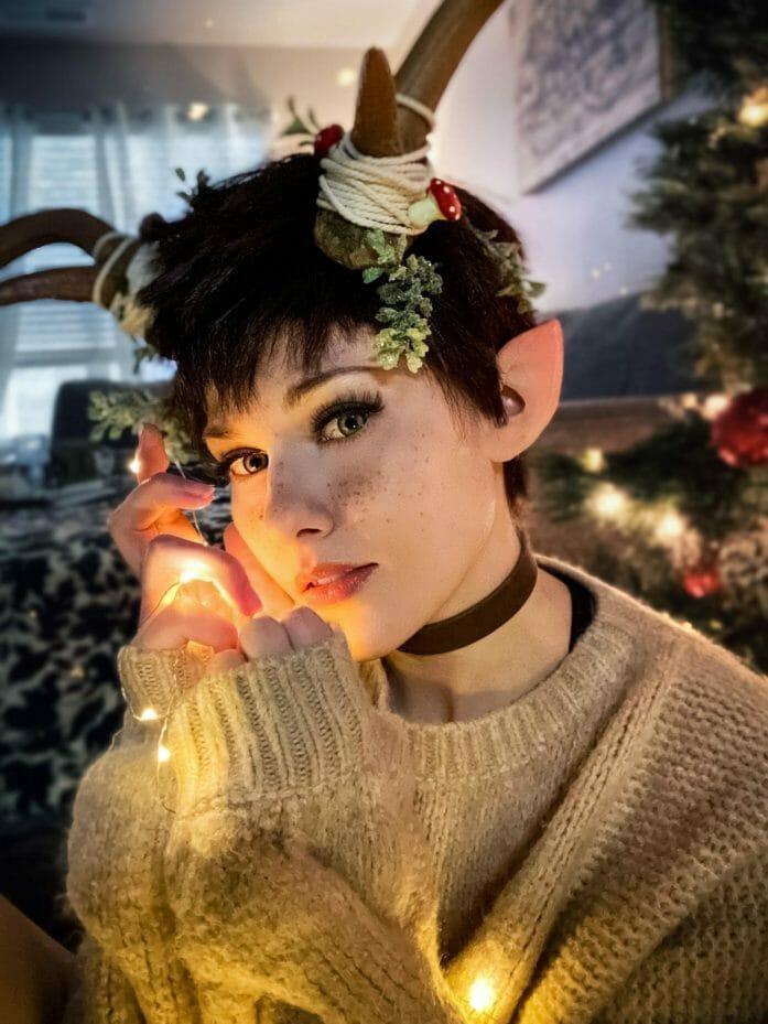 A Christmas fawn