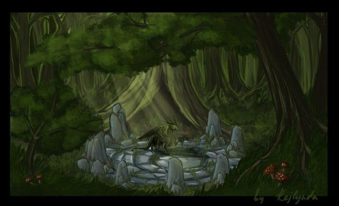 Forest Dragon's Lair by Kejlynda