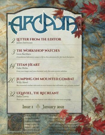 Arcadia #1 contents