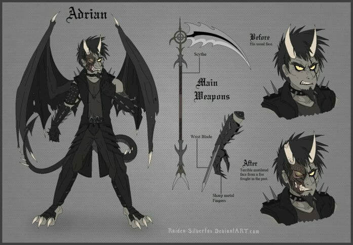 OC Character Reference Sheet 2016: Adrian</a> by Raiden-Silverfox