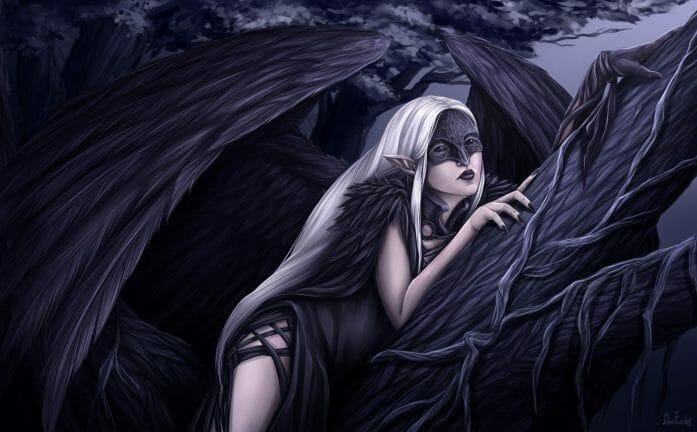Nymre Raven Fairy OC by DonFuchs