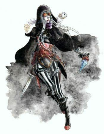 Rhosyn Kathegat III, Dhampir Shadowdancer by deerari