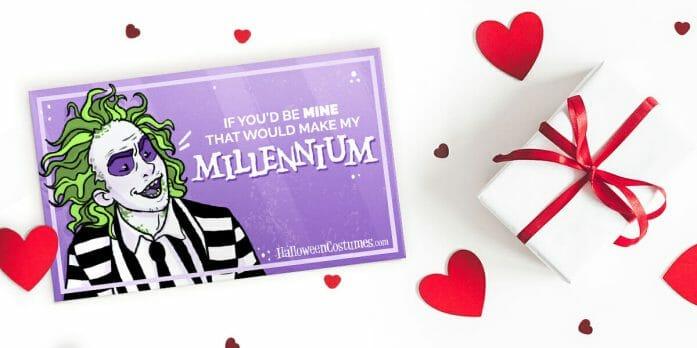 Beetlejuice Valentine Card