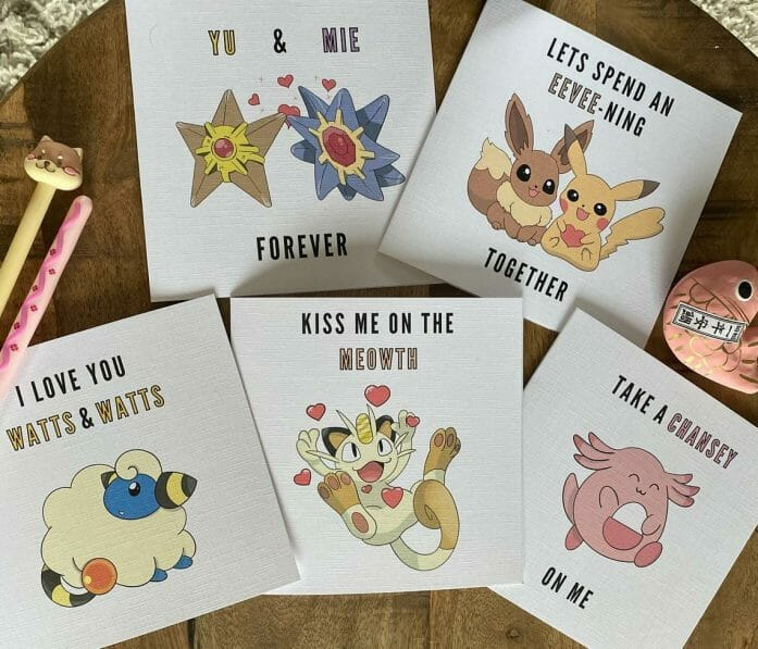 Pokemon Valentine's cards