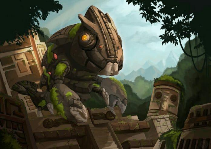Mayan Temple Guardian by RO-sen