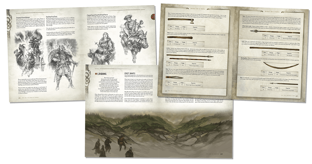 Beowulf art and layout previews