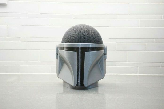 Mandalorian helmet Echo Dot holder