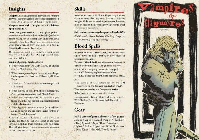 Vampires & Claymores RPG