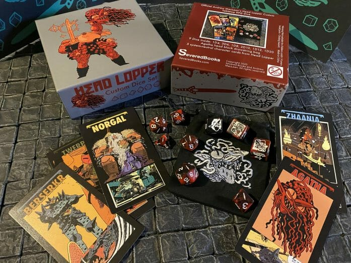 Head Lopper dice and GM screen
