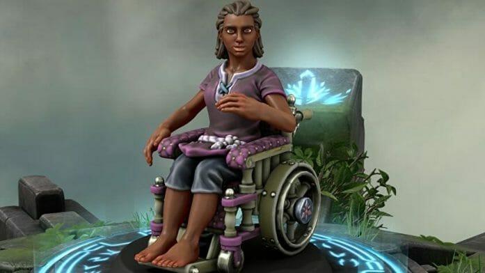 Wheelchair minis for D&D