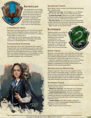 Wands & Wizards layout