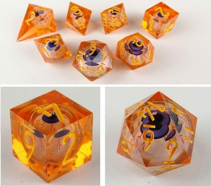 Orange eye dice