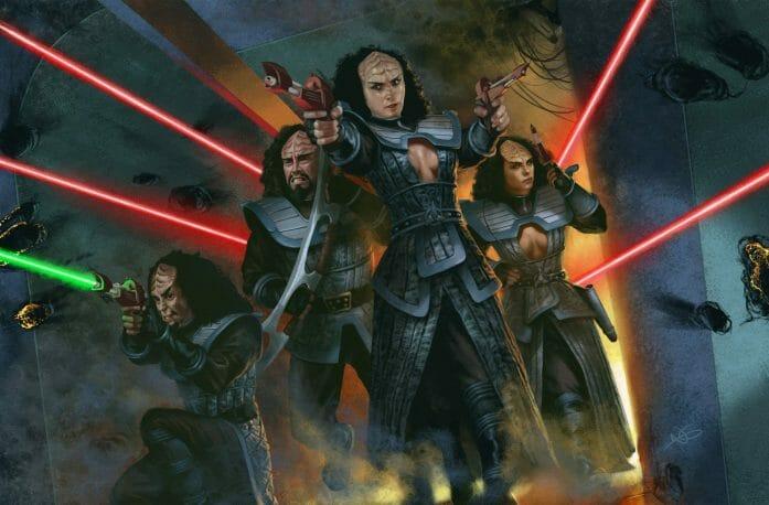 Klingon corridor fight by NIck Greenwood