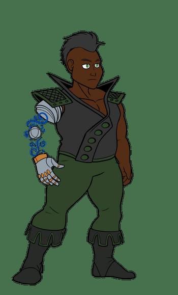 Dwarf with prosthetics