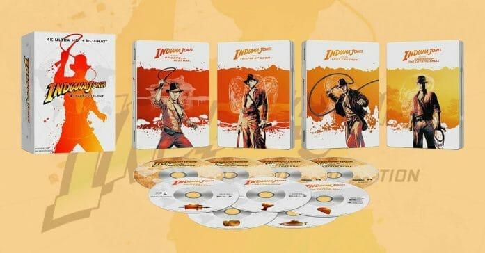 The Indiana Jones 4-movie collection 4K steelbook