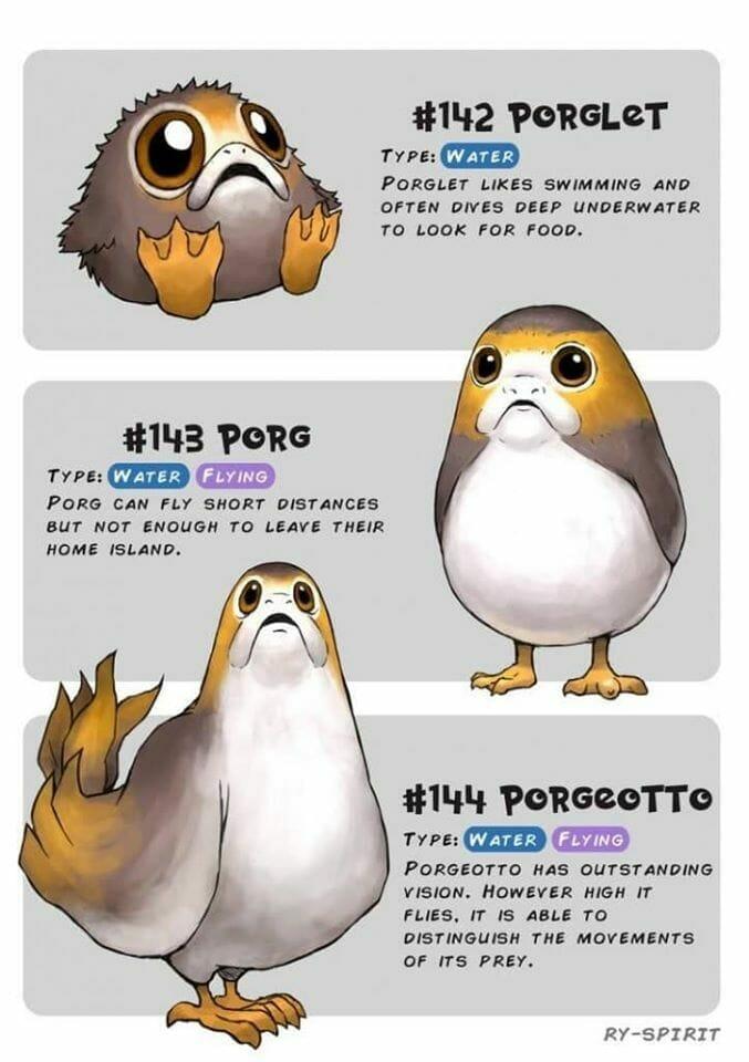 Porg Pokemon