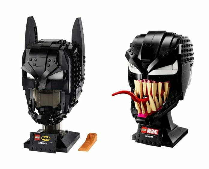 LEGO unveils intimidating Batman and Venom busts