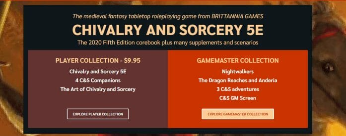 Chivalry and Sorcery RPG