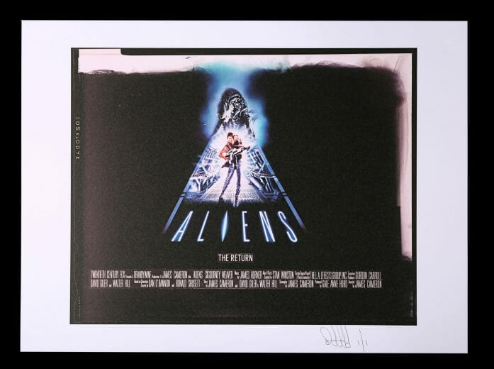 Aliens poster concept auctioned by Prop Store on 22nd April 2021.