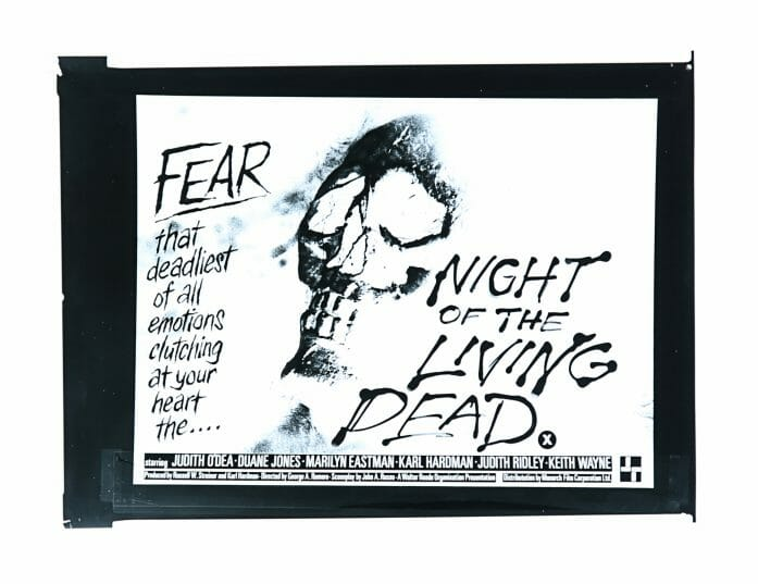 Night of the Living Dead poster concept auctioned by Prop Store on 22nd April 2021.
