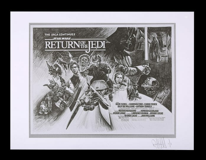 Return of the Jedi concept auctioned by Prop Store on 22nd April 2021.