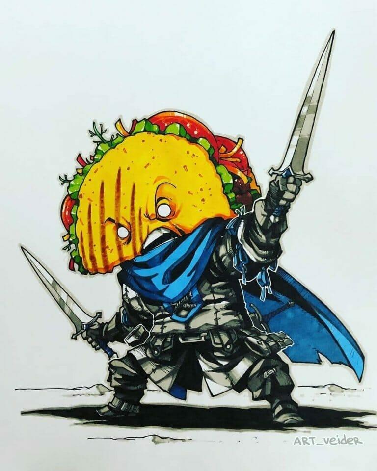 Artemii Myasnikov's RPG food hero series