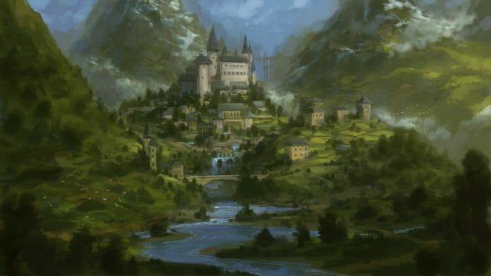 Fantasy Castle sketch by Sketchbook Universe