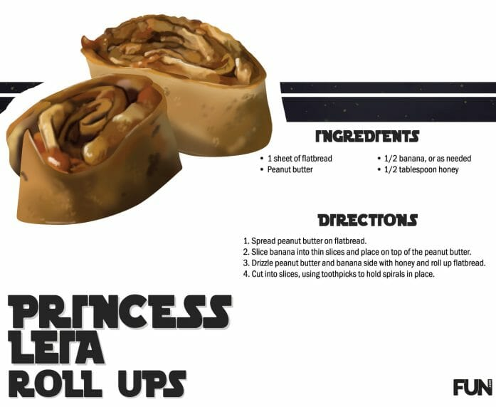 How to make Princess Leia peanut butter banana buns