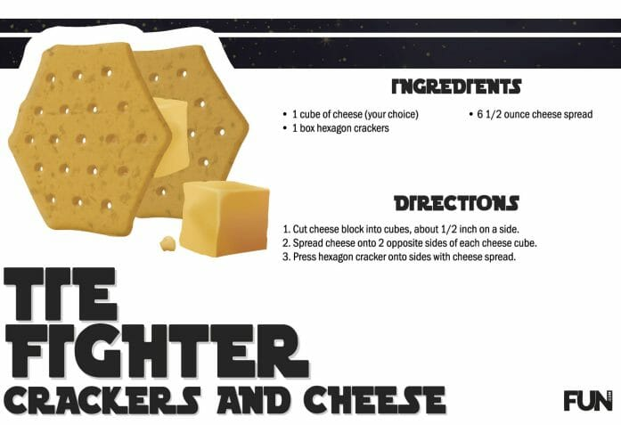 How to make Tie Fighter cheese and crackers
