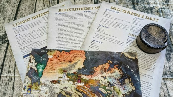 Soulbound Starter Set reference sheets